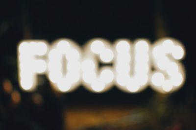 being focused